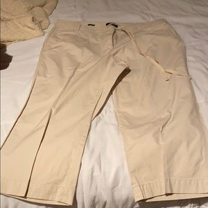 Talbots khaki crop pants
